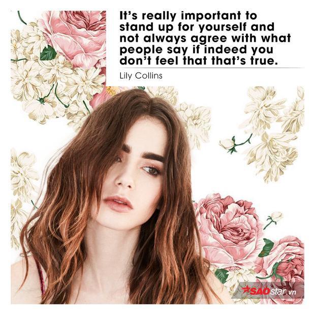 """""""Đứng lên vì chính mình thực sự quan trọng vàkhông phải lúc nào cũng đồng ý với những gì mọi người nói nếu bạn không cảm thấy đúng""""."""
