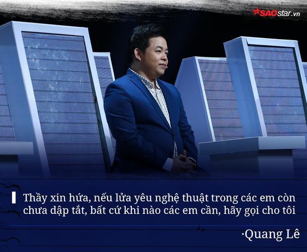 """Câu nói nổi tiếng một thời """"Hãy gọi cho tôi"""" được HLV Quang Lê sử dụng trong lúc chia tay 5 học trò đáng mến. Chỉ cần còn đam mê với nghề và nhấc máy gọi, các thí sinh vẫn sẽ được nghe những chỉ dẫn chân tình và quý báu từ thầy Quang Lê."""