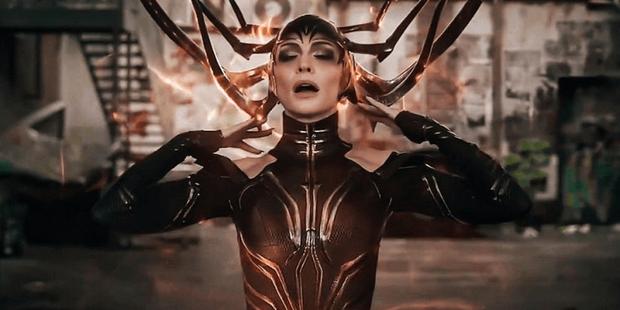 Hela tỏa ra quầng năng lượng màu cam trong trailer gốc của Thor: Ragnarok