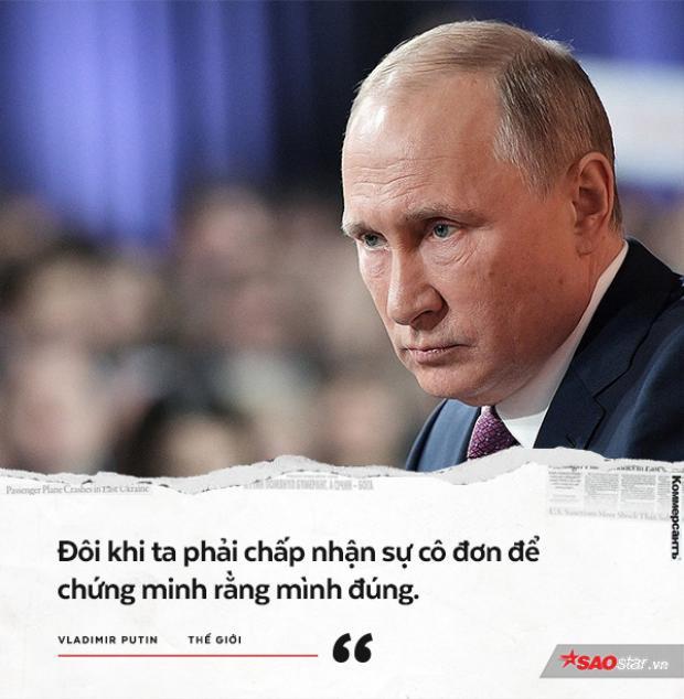 Tại Hội nghị Thượng đỉnh G8 năm 2014 diễn ra tại Bỉ, ông Putin một mình phản đối việc Mỹ tham gia cuộc chiến ở Syria. Đây là phát biểu của ông sau khi tham gia hội nghị này.