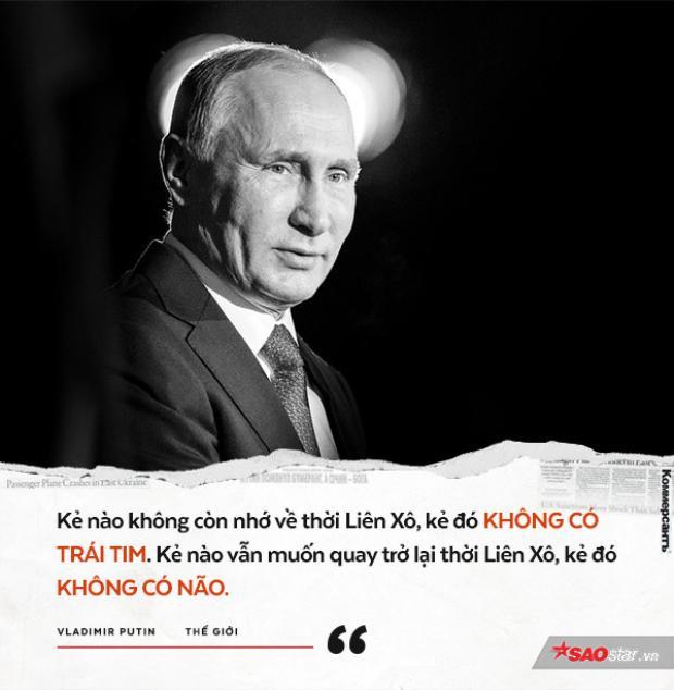 """Ông Putin coi việc Liên Xô sụp đổ vào năm 1991 là """"thảm kịch địa chính trị khủng khiếp nhất thế kỷ 20""""."""