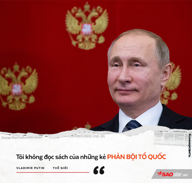 Ông Putin từng nói ông không thể đọc sách của một kẻ đã chạy trốn khỏi Liên Xô.