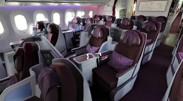 Phụ nữ mang thai sẽ không có cơ hội được ngồi trên ghế hạng sang trên máy bayBoeing 787-9 Dreamliner của Thái Lan. Ảnh: Coconuts