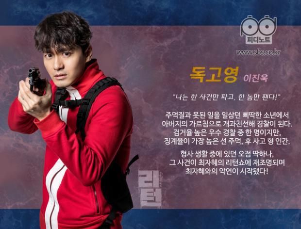 """Nhân vật cảnh sát Dokgo Young chính nghĩa, lì lợm của Lee Jin Wook trong """"Return"""" đã chinh phục được khán giả"""