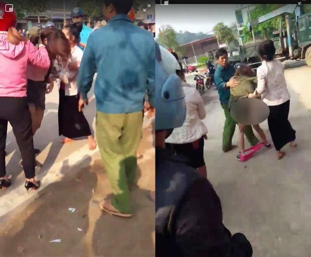 Cô gái bị đánh ghen, lột váy giữa đường.