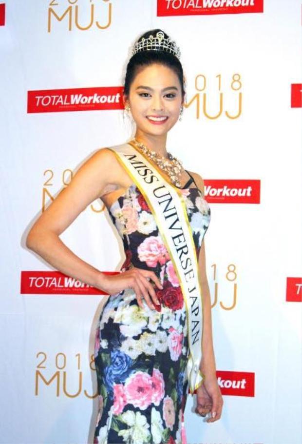 .Tân Hoa hậu Hoàn vũ Nhật Bản sở hữu nụ cười dịu dàng, thân thiện.