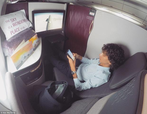 Đối với Macheras, mức độ riêng tư trên chuyến bay là bậc nhất thế giới.