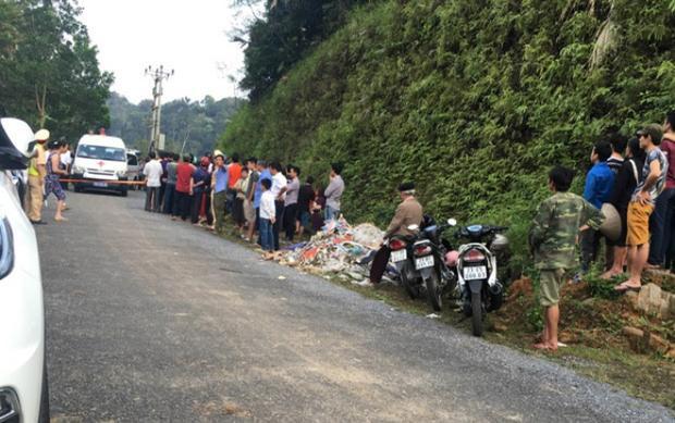 Khu vực nơi phát hiện 3 người cùng gia đình chết trong xe ô tô. Ảnh Báo Hà Giang