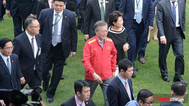 Hình ảnh Tổng thống Hàn Quốc trong buổi giao lưu.