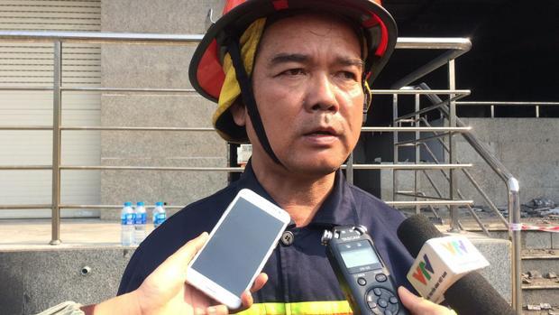 Thượng tá Phạm Trí Thảo thông tin về vụ cháy