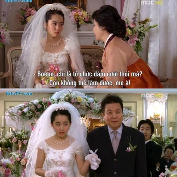 Tuy nhiên, Bo Eun vui mừng khi mọi người xung quanh khen mình xinh đẹp khi mặc váy cưới.