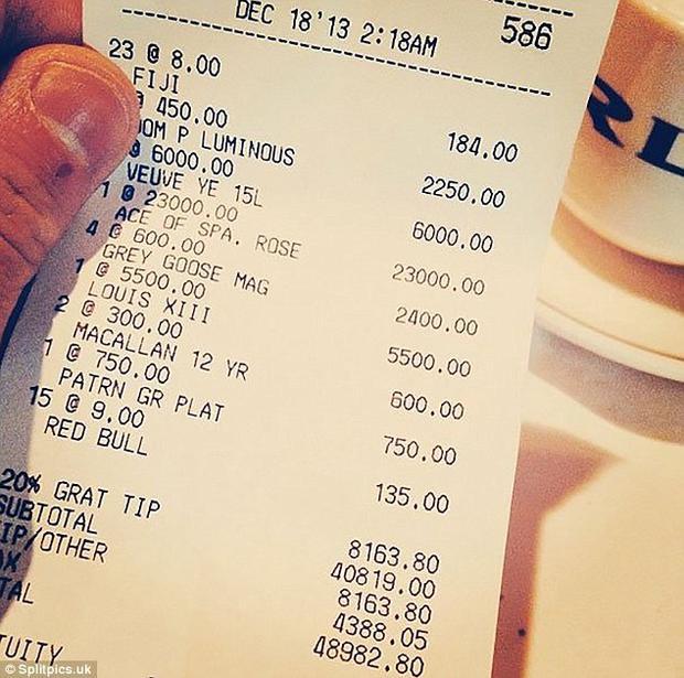 """Chia sẻ hóa đơn mua sắm lên mạng xã hội, đứa bé """"ngậm thìa vàng"""" khiến chúng ta đếm số tiền trên đơn đơn """"mệt nghỉ""""."""