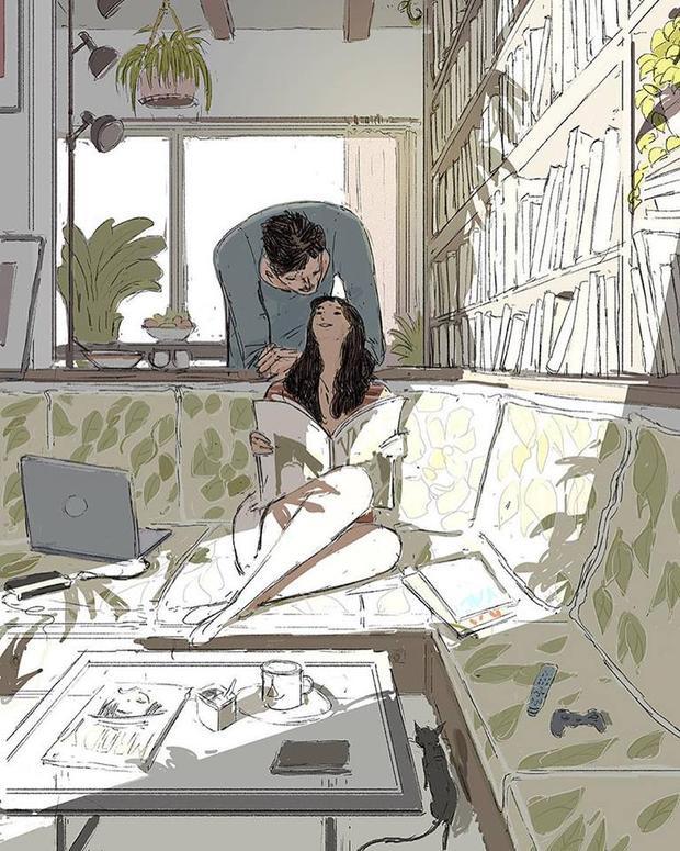 Tình yêu bắt đầu từ việc nhìn vào mắt nhau và nói ra những gì mình đang nghĩ.
