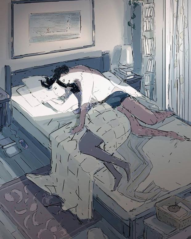 Thật may mắn khi hôm nay chúng ta vẫn được ôm người mình yêu đi ngủ