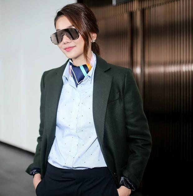 Hình ảnh cá tính của Thanh Hằng được nhiều đàn em học hỏi.