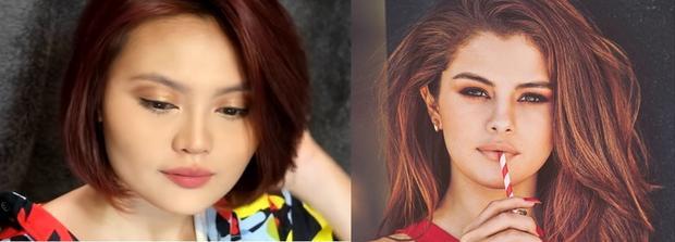 Tông trang điểm khá Tây làm nhiều người liên tưởng đến cô nàng Selena Gomez.