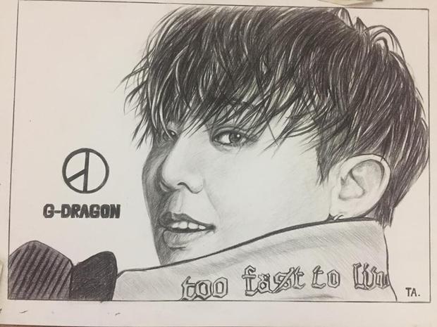 G-Dragon (nhóm trưởng BigBang - một nhóm nhạc thần tượng ở Hàn Quốc).