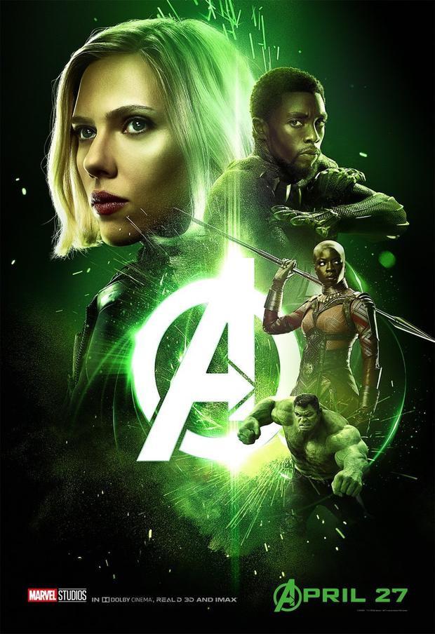 Black Widow, Black Panther, Okoye và Hulk.