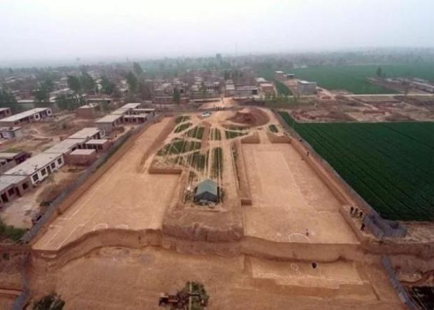 Toàn cảnh khu vực Cao Lăng được tiến hành khai quật. Ảnh Sohu