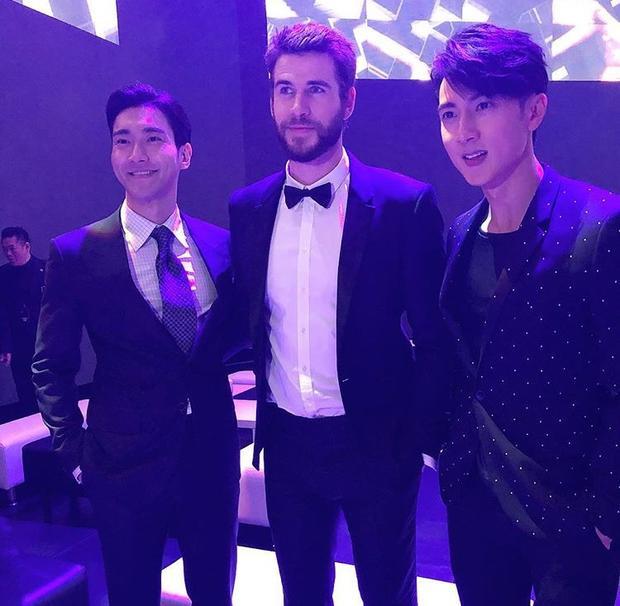 Choi Siwon, Liam Hemsworth và Ngô Tôn.