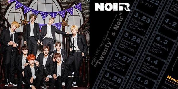 """NhàLuk Factory sẽ """"xuất xưởng"""" nhóm nhạc nam - Noir vào ngày 9/4 với album đầu tay Twenty's Noir. Boygroup này từng có 3 thành viên xuất hiện trong Produce 101 mùa 2."""