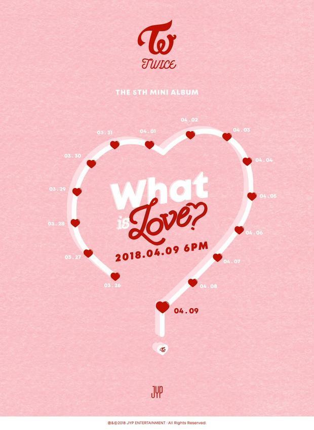 """Mini album thứ 5 What is Love? sẽ được """"thả xích"""" vào ngày 9/4 sắp tới."""