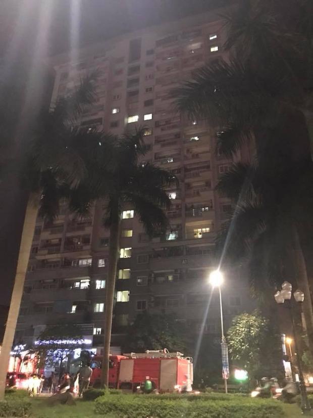 Chung cư nơi xảy ra vụ cháy.