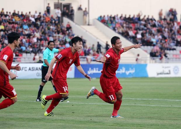 ĐTVN đã hòa 1-1 trước Jordan ngay trên sân khách. Ảnh: VFF