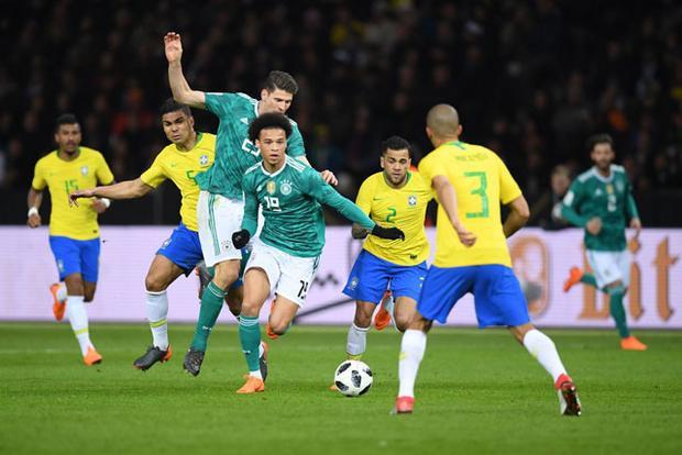 ĐT Đức đã nhận thất bại cay đắng trước Brazil.