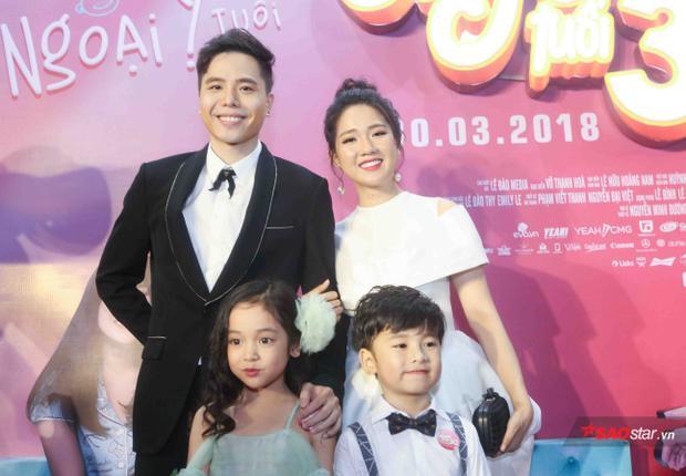 Trịnh Thăng Bình, Kiều Trinh, bé Chu Diệp Anh và bé Coca.