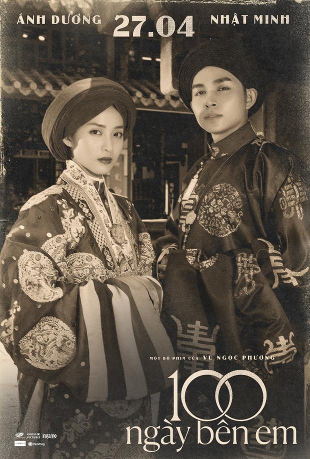 Đi cùng với đó là bức hình Jun Phạm và Khả Ngân diện trang phục cưới như các ông hoàng, bà chúa thời xưa.