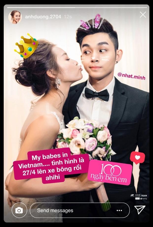 Bức ảnh cưới thời hiện đại được đăng tải trên Instagram theo đúng thói quen của giới trẻ hiện nay.