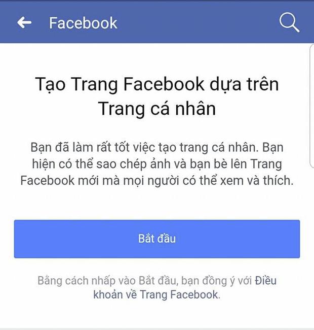 Gợi ý tạo Page từ trang cá nhân của Facebook. Với tính năng Load Page này, bạn sẽ nhanh chóng tạo được page với like tương đương số lượng bạn bè.