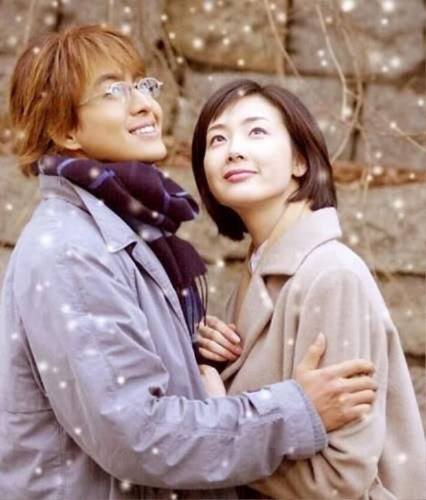 """Choi Ji Woo - Bae Yong Joon trong bộ phim đình đám """"Chuyện tình mùa đông"""""""