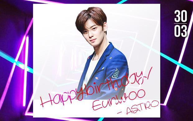 Ở độ tuổi thanh xuân phơi phới, chúc chàng trai sẽ chinh phục được những đỉnh cao mới ở cả sự nghiệp idol lẫn diễn xuất. Hãy luôn hạnh phúc và tỏa sáng như nụ cười của mình, sinh nhật vui vẻ Eunwoo nhé!