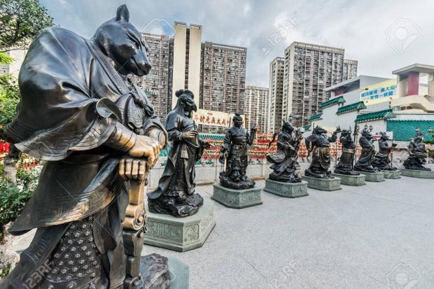Những bức tượng này rất thu hút quan khách khi đặt chân tới ngôi chùa.Ảnh: Lense Moments