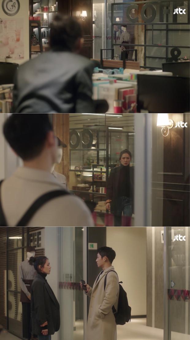 Cô nàng tỏ ra bối rối khi thấy cậu em Jun Hae.