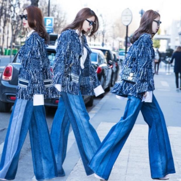 Angela Baby từng mặc thiết kế này khi cùng chồng sang Pháp du lịch và tham dự tuần lễ thời trang Paris.