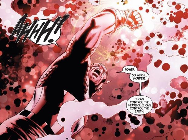 Captain America đeo Găng Vô Cực trong truyện tranh