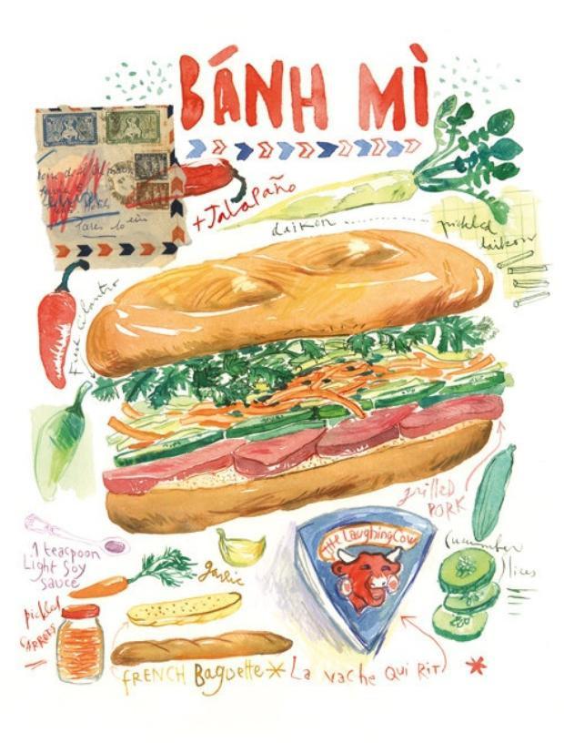 """Bánh mì đã thật sự """"soán ngôi"""" của phở và trở thành món ăn Việt Nam được người nước ngoài yêu thích nhất."""