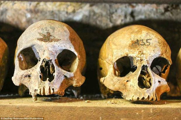 Nhà nguyện được xây dựng tại nhà thờ ở Anh để chôn cất những mảnh xương bị xáo trộn. Những người hành hương và dân làng sẽ tới đây để cầu nguyện cho những người đã khuất. Nơi nàykhông bao giờ thiếu ánh sáng.Ảnh: REX