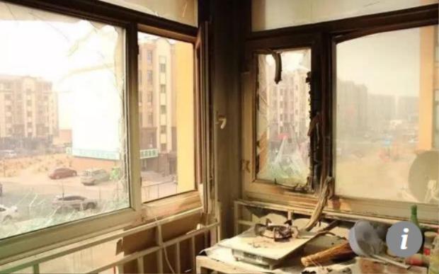 Căn phòng bếp của người phụ nữ bị cháy. Ảnh SCMP