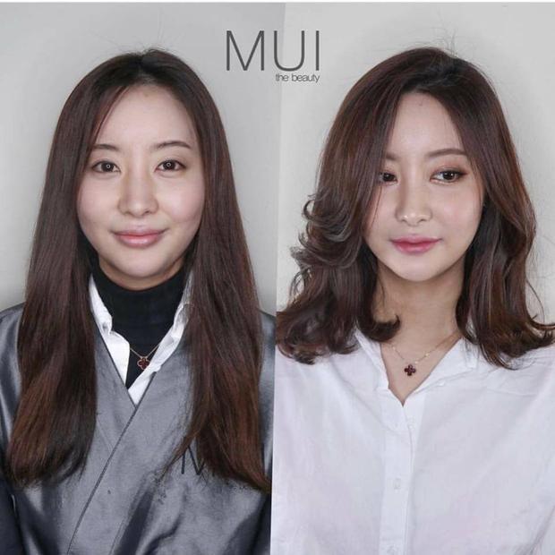 Rõ ràng mái tóc ngắn đã khiến gương mặt cô gái này trở nên mềm mại hơn hẳn.