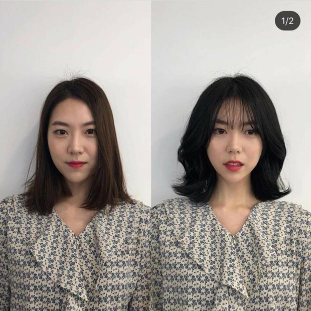Kiểu cũ vẫn là tóc ngắn, nhưng kiểu mới thì được uốn nhẹ, làm lọn, kết hợp với mái thưa… khiến cô gái trẻ ra trông thấy.