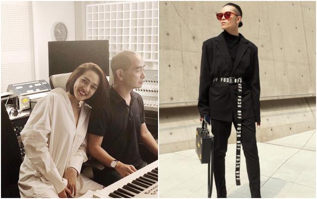 Nhạc sĩ Đức Trí và stylist Kelbin Lei.