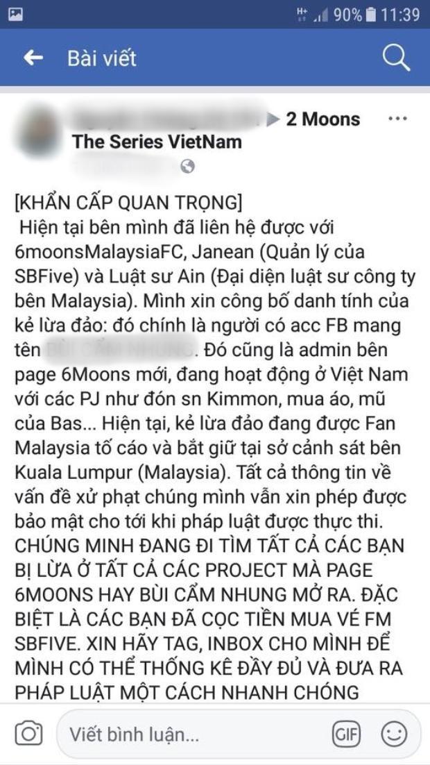 Nghi vấn C bị bắt tại Malaysia vì tội lừa đảo.