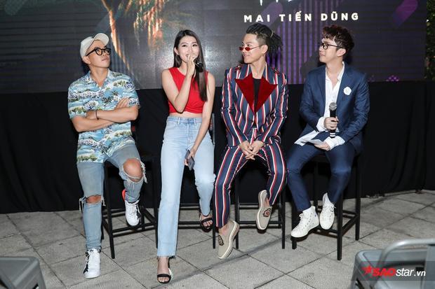 Người mẫu Chế Nguyễn Quỳnh Châu - nhân vật nữ chính của Tối nay em muốn sao chia sẻ mẩu chuyện nhỏ hài hước về việc mẹ mình rất thích Mai Tiến Dũng nên đã ủng hộ nhiệt tình việc cô hợp tác với anh.
