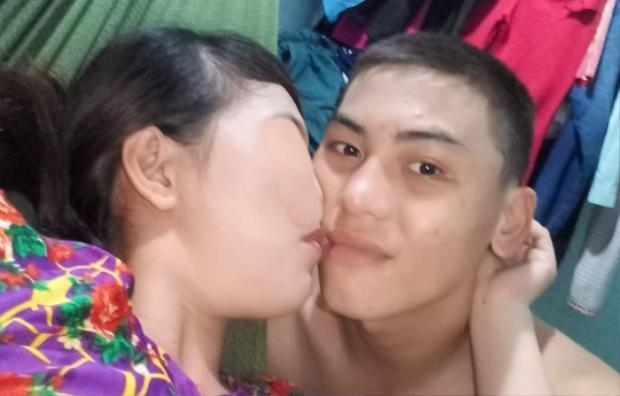Đối tượng Nguyễn Văn Hải cùng mẹ cháu bé.