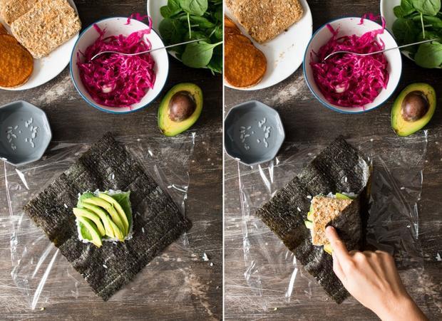 Đặc biệt, bạn có thể tạo hình cho chiếc bánh bằng cách bỏ nó vào khuôn hình chữ nhật, hình vuông hay hình tam giác,… tùy thuộc vào sở thích của mình để làm cho món ăn trở nên giống y chang chiếc bánh sandwiches mà mình vẫn hay ăn nhé!