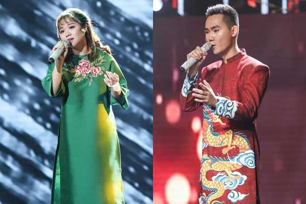 Ánh Bùi và Tuấn Anh là hai thí sinh dẫn đầu bình chọn trong những ngày đầu tiên.